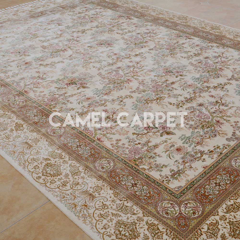 W1181A Silk Chinese Design Large White Rug