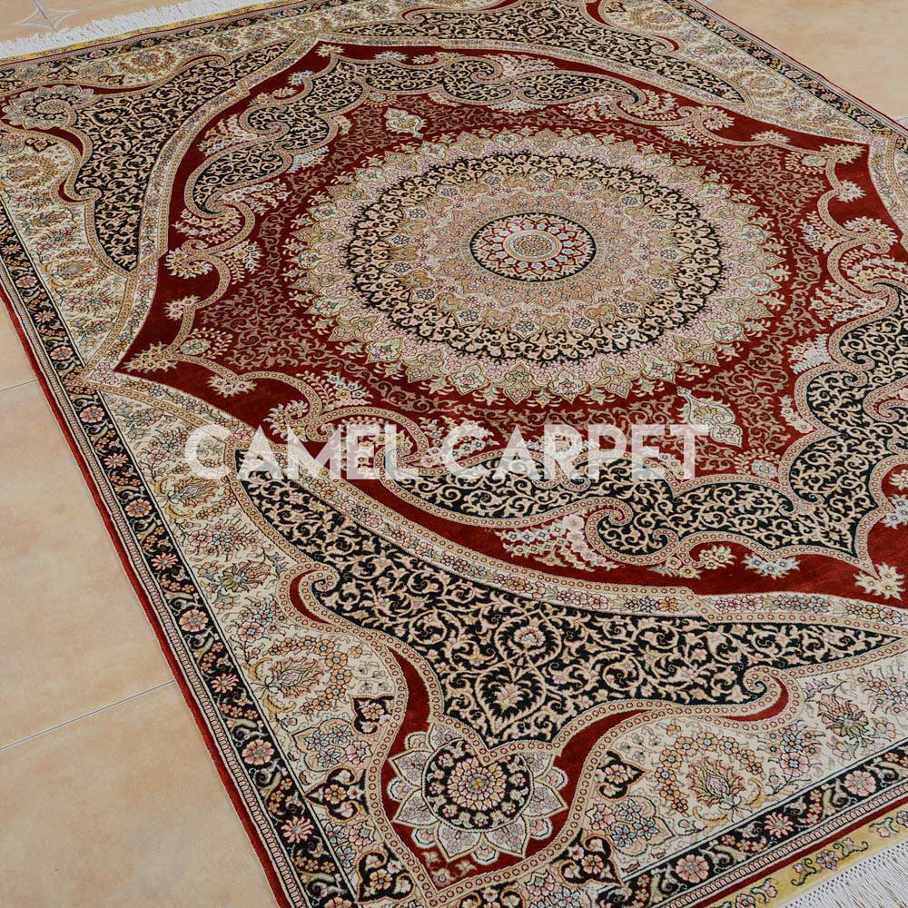 S1052A Hand Knotted Oriental 5x7 Area Rugs