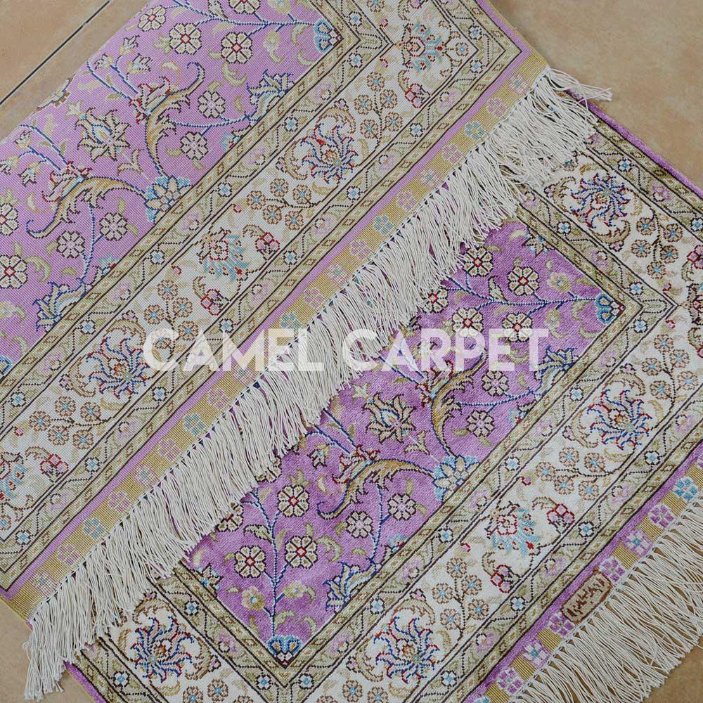 Man Made Persian Rug Pink Camel Carpet
