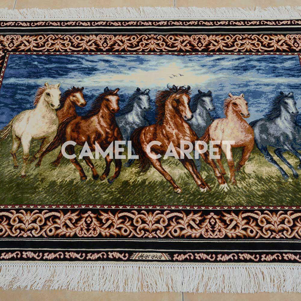 Handmade Silk Tapestry Horse Rug For