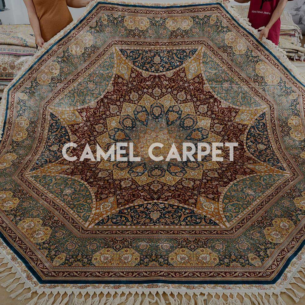 ... Handmade Silk Oriental Octagon Shaped Rugs