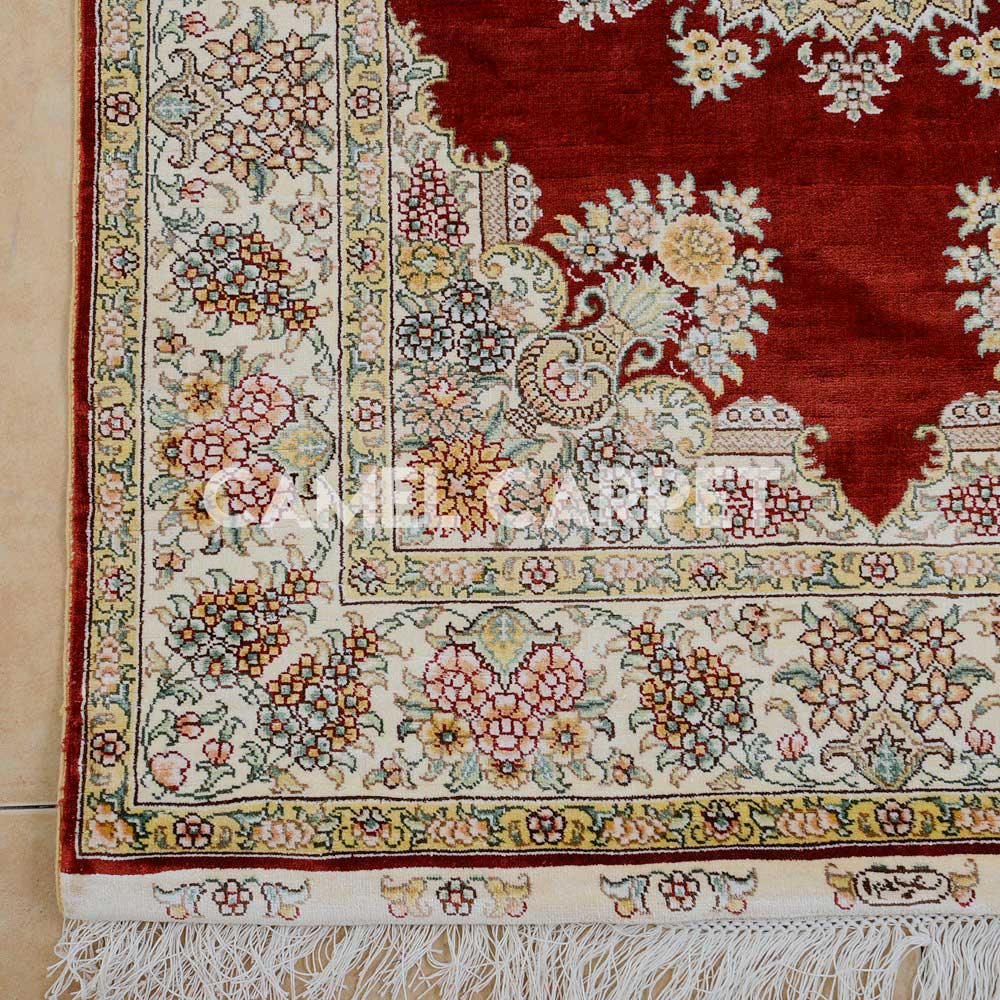 Hand Knotted 12 Foot Runner Rug Camel
